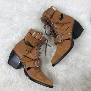Chloe Rylee cutout ankle boots